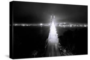 Head On City Bay Bridge Black & White Urban Night Cityscape San Francisco by Vincent James