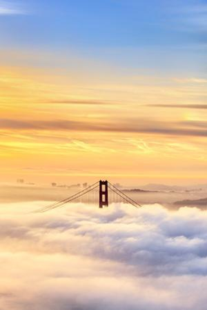 Heaven the Blue Sky Golden Gate Ethereal Madness Fog & Life San Francisco by Vincent James