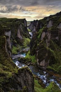 Ice Age Dark, Amazing Epic Fjaðrárgljúfur Canyon Iceland by Vincent James