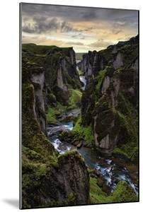Ice Age Dark, Amazing Epic Fjaðrárgljúfur Canyon Iceland by Vincent James