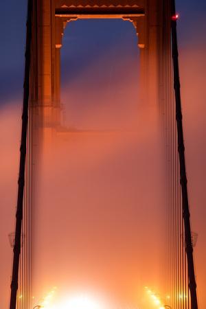 In It Detail, Fog Light Magic Mist Golden Gate Tower San Francisco California by Vincent James