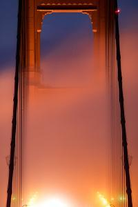 In It Detail, Fog Light Magic Mist Golden Gate Tower San Francisco California by Vincent James