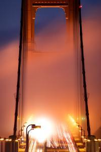 In It, Fog Light Magic Mist Golden Gate Tower San Francisco California by Vincent James