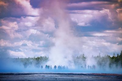 In The Spring Grand Prismatic Travel Yellowstone National Park by Vincent James