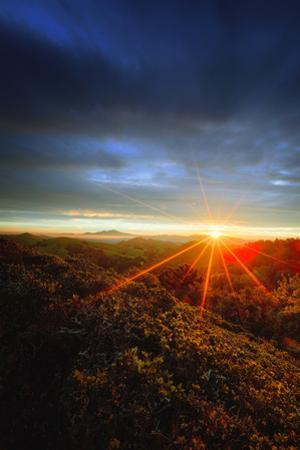 Intemse Sun Star & Dusky Mount Diablo Hills Oakland East Bay by Vincent James