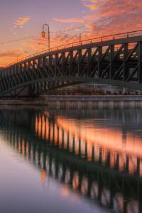 Lake Bridge Reflection, Lake Merritt, Oakland by Vincent James