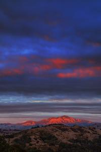 Last Light of the Day at Mount Diablo, East Bay Hills, San Francisco by Vincent James