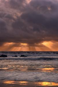 Light Beams at Big Sur by Vincent James