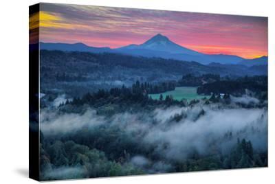 Light Fog at Sunrise from Jonsrud Point, Mount Hood Oregon by Vincent James