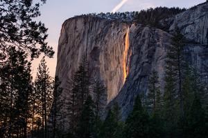 Light Magic on Earth, Firefall, Horsetail Falls, Yosemite National Park, Rare Light by Vincent James