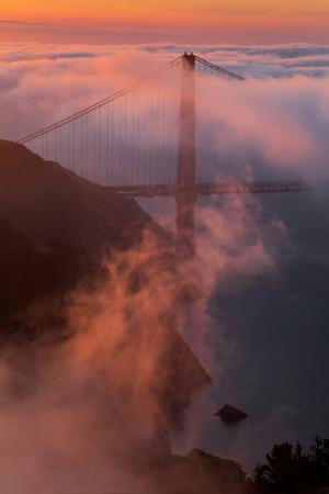 Light Mix Sunrise Fog Golden Gate San Francisco Bay Marin Headlands by Vincent James