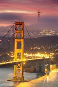 Loom - Misty Foggy Golden Gate Nights at San Francisco by Vincent James