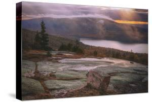 Low Light & Mist at Eagle Lake Acadia National Park Maine Mount Desert by Vincent James
