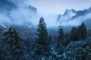 Magic Moody Morning at Tunnel View Winter in Yosemite by Vincent James