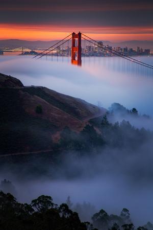 Magic Morning Perfect Alignment Summer Golden Gate Marin Headlands San Francisco by Vincent James