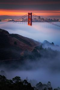 Magic Morning Perfect Alignment Summer Golden Gate Marin Headlands San Francisco by Vincent James