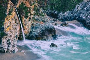Magical McWay Waterfall and Beach Scene, Big Sur California Coast by Vincent James