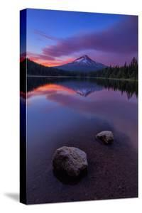 Magical Sunset at Trillium Lake, Mount Hood, Oregon, Pacific Northwest by Vincent James