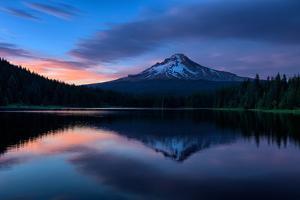 Mellow Evening at Trillium Lake Reflection, Summer Mount Hood Oregon by Vincent James