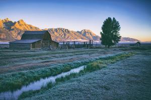 Mellow Summer Morning at Mormon Row, Grand Teton Wyoming by Vincent James
