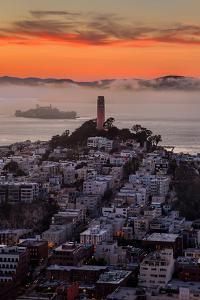 Mellow Sunset at Coit Tower, San Francisco California by Vincent James