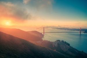 Mid-summer Morning Landscape at Golden Gate Bridge, San Francisco, California by Vincent James