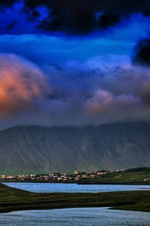 Midnight at Grundarfjörður Summer Iceland by Vincent James
