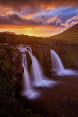 Midnight Burn at Kirjufell Iceland Epic Mountain Summer Sky Fire by Vincent James