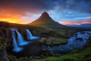 Midnight Sun at Kirkjufell, Eastern Iceland by Vincent James