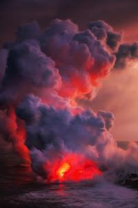 Mighty Island Making Power Lava Volcano Hawaii Big Island by Vincent James