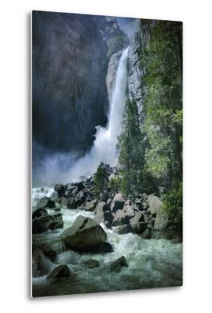 Misty Lower Yosemite Falls, California