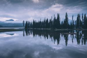 Moody Blue Morning Light at Sparks Lake, Bend Oregon by Vincent James