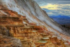 Moody Canary Springs, Yellowstone Wyoming by Vincent James
