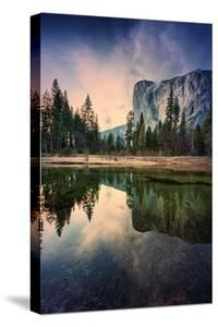 Moody El Capitan Reflections in Merced River, Yosemite Valley by Vincent James