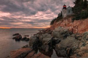 Moody Sunset at Bass Harbor by Vincent James