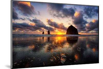Moody Sunset at Cannon Beach, Oregon Coast by Vincent James