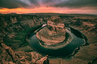 Moody Sunset at Horseshoe Bend, Page Arizona, Southwest US by Vincent James