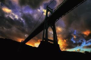 Moody Sunset at St.John's Bridge Portland, Oregon by Vincent James