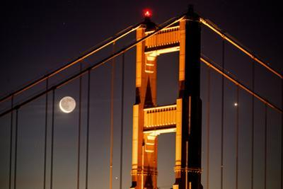 Moon Gate, Iconic and Epic Golden Gate Bridge, San Francisco Night Shot by Vincent James