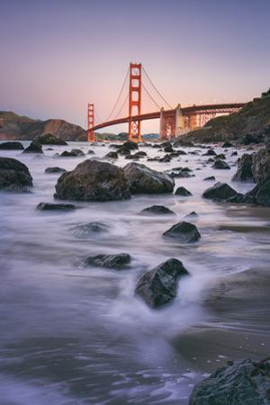 Morning Beach and Golden Gate Bridge - San Francisco, California by Vincent James