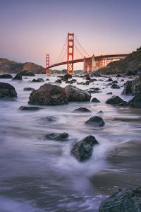 Morning Beach and Golden Gate Bridge - San Francisco, California by Vincent James