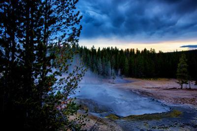 Morning Brew, Mood and Mist at Yellowstone National Park, Wyoming