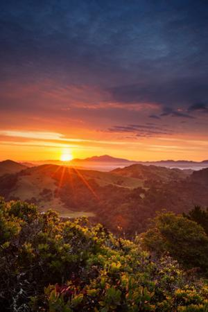 Morning Heaven Sunrise Bay Area Hills Mount Diablo Oakland by Vincent James