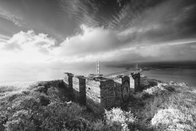 Morning Mist and Sun Magic at Golden Gate Bridge, Black and White, San Francisco by Vincent James