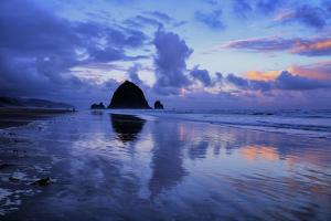 Morning Reflection Walk at Cannon Beach, Oregon Coast by Vincent James