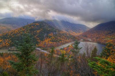Morning Storm at Echo Lake in Autumn, New Hampshire by Vincent James