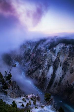Morning Sunrise Pink Fog Grand Canyon Yellowstone Wyoming by Vincent James