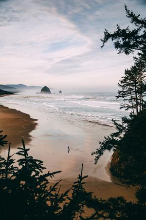 Morning Walk at Cannon Beach, Peaceful Oregon Coast