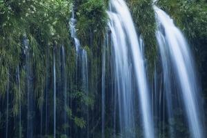Mossbrae Falls Detail, Waterfall, Mount Shasta California by Vincent James