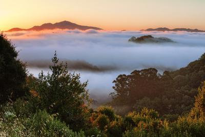 Mount Diablo Cloud Inversion at Sunrise Oakland East Bay Hills California by Vincent James